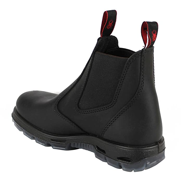 8bec03d678d RedbacK Men's Work Boots UBBK Black Easy Escape Chelsea Bobcat Slip On Non  Steel Toe