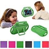 iPad Mini Case, iPad Mini 2 Case, EUHubb [Kids Case] Multi Function Kids Childproof Shockproof Cover Case with Stand [Carrying Handle] for Apple iPad Mini 1/2/3, iPad Mini Retina Green