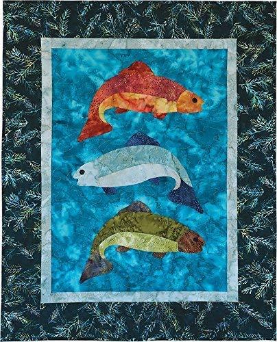 Pattern~Fish Tales 26 x 33 by McKenna Ryan for Pine Needles Designs (Quilt Fish Pattern)