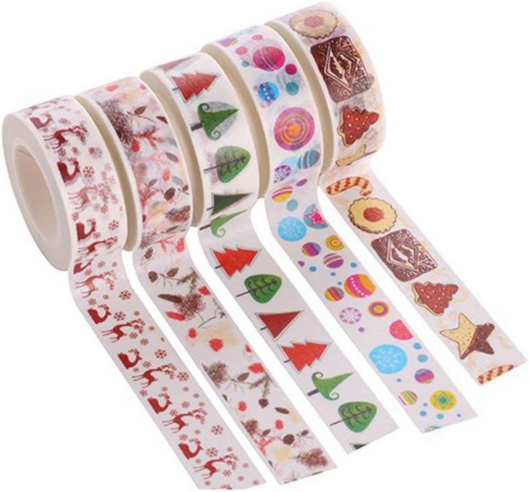 STOBOK Christmas tape washi masking tape set decorative holiday tape for xmas wall tree