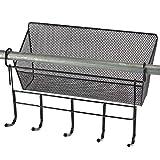 Bunk Bed Basket Home Storage Organizer Hanging Basket with Keys Hooks (1)