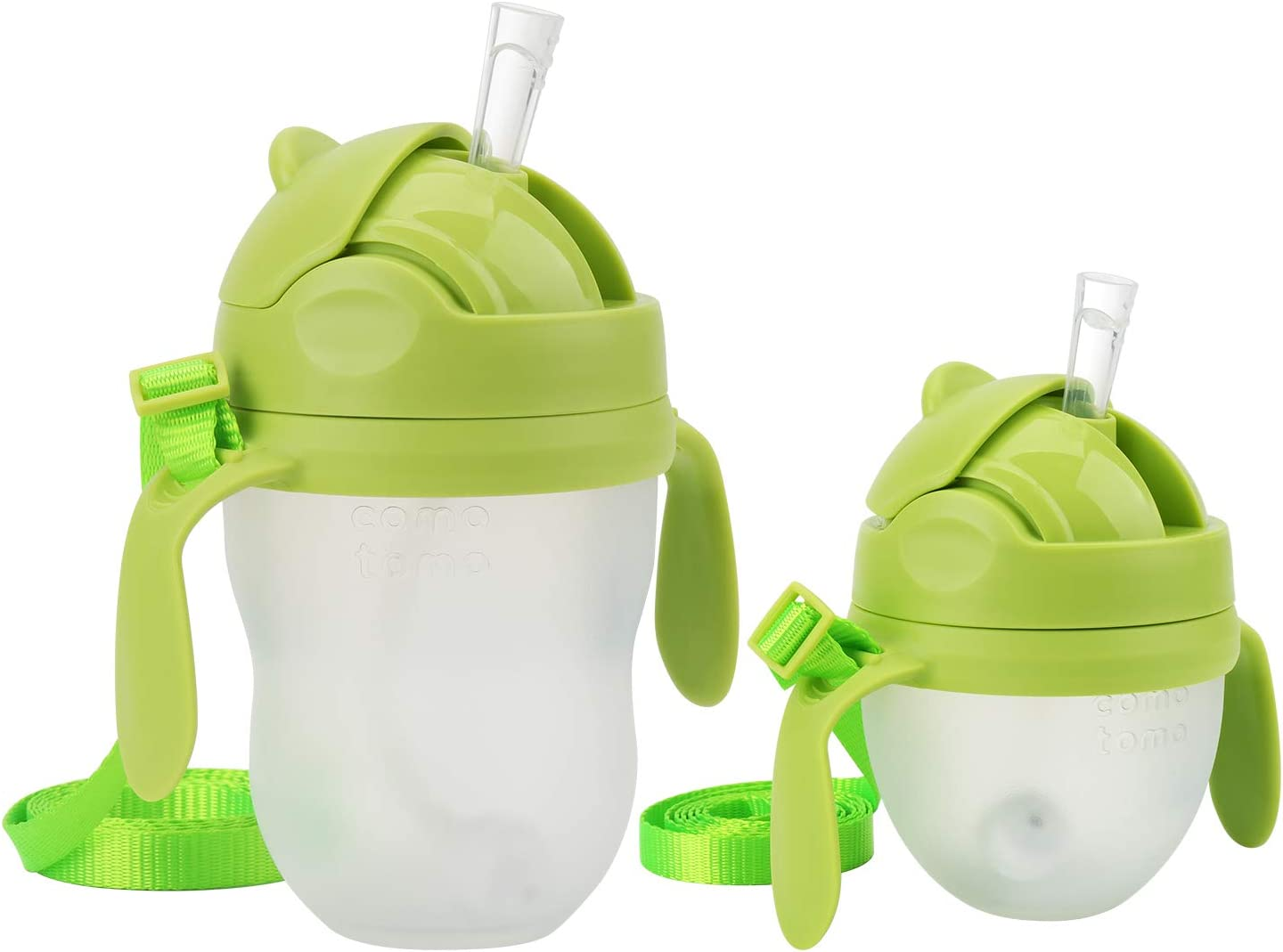 Weighted Straw Sippy Cup Conversion Kit, Compatible for Comotomo Baby Bottle, 5 Ounce and 8 Ounce (2 Packs, Green)