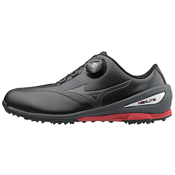 1945878a1f093 Mizuno 2018 NEXLITE 004 BOA Spikeless Waterproof Performance Mens Golf Shoes   Amazon.co.uk  Sports   Outdoors