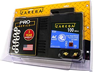 Zareba EAC100M-Z 100 Mile AC Low Impedance Electric Fence Charger