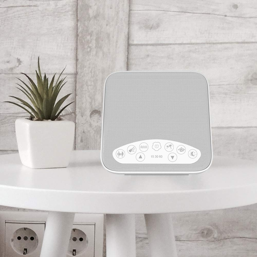 White Noise Machine, 2018 Upgraded Sleep Sound Machine, Sound Therapy Machine with 3 Timers & 6 Natural Sound Options Including Lullaby, Ideal for Tinnitus Sufferer, Light-Sleeper, Baby by WINONLY