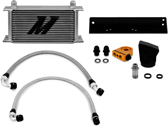 Mishimoto MMOC-GEN6-10T Oil Cooler Kit Thermostatic Compatible With Hyundai Genesis Coupe 3.8T 2010-2015 Silver
