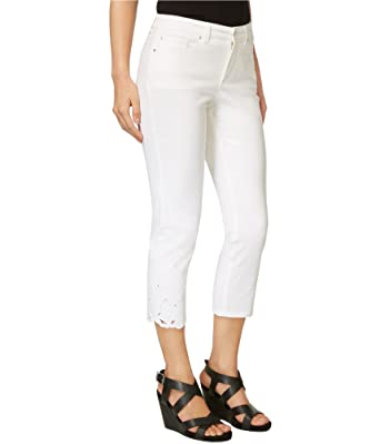 79d72645f17 Image Unavailable. Image not available for. Color  Charter Club Womens  Bristol Embroidered Cropped Jeans ...