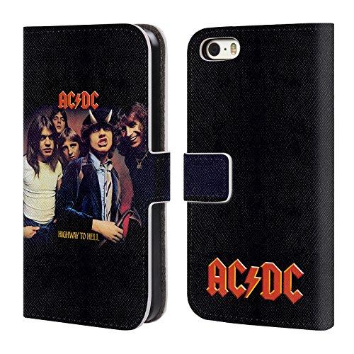 Officiel AC/DC ACDC Route Au Diable Couverture D'album Étui Coque De Livre En Cuir Pour Apple iPhone 5 / 5s / SE