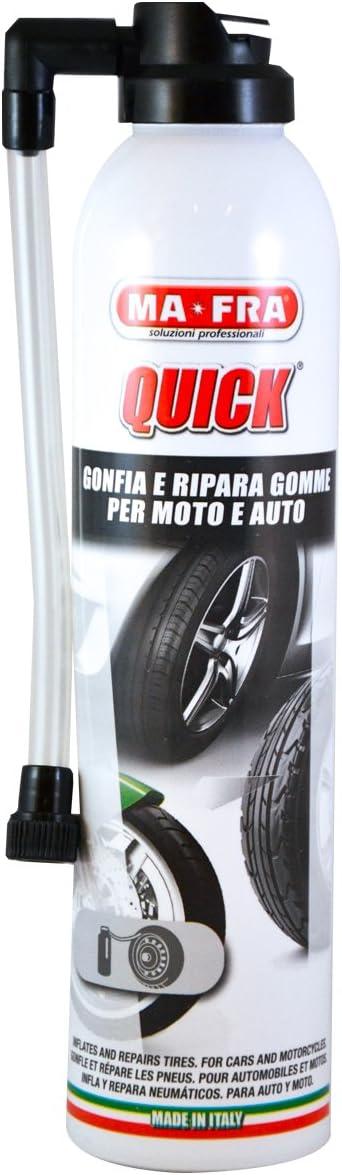 Format 300ml Mafra H0110 Quick Gonfle et R/épare Les Pneus Crev/és de Voiture et Moto pour Pneumatiques avec ou sans Chambre dair