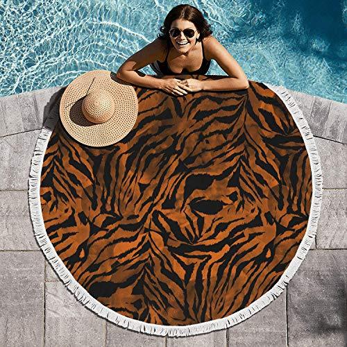 Gaaskelled Water Absorbent Large Round Beach Towel Blanket Zebra Gradient Tie Dye Colorful Camouflage Table Cloth ()