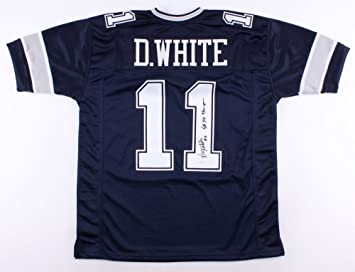 afd1d560 Danny White #11 Signed Dallas Cowboys Jersey Inscribed