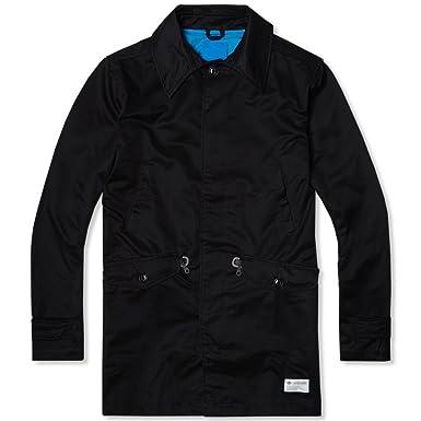 411d731a526fd adidas Originals Mens Mac Trench Coat - Black - Small: Amazon.co.uk ...