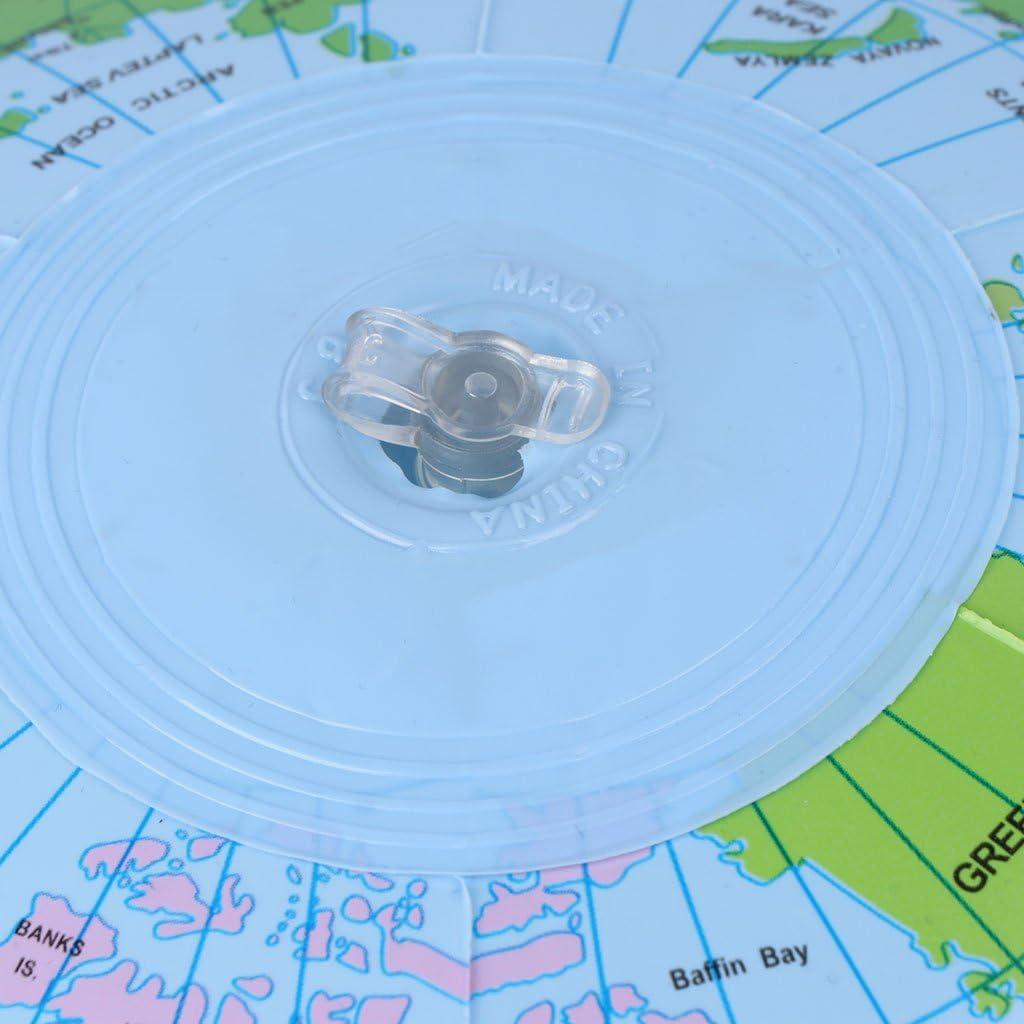KERDEJAR 30CM Mappa del Mondo Gonfiabile Globo Palloncino Pallone da Spiaggia Istruzione Geografia Giocattoli per Bambini