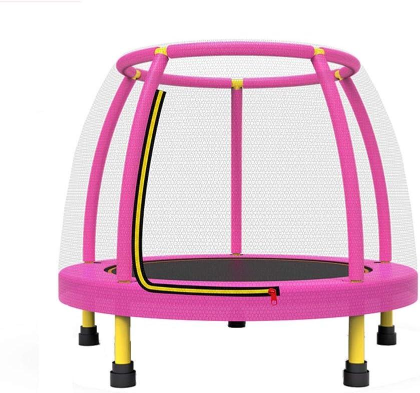 GHHZZQ-Trampolines for niños, con Cremallera Red Protectora Duradera Tubo de Espuma de Seguridad for Hogar Colegio Parque de Atracciones Jugar, Azul Rosado (Color : Pink, Size : 122CM)