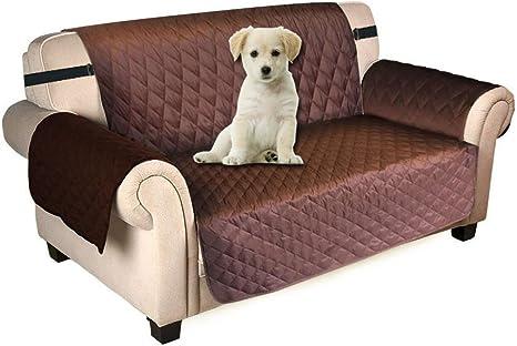 Puppymate Sofaschoner Sofabezug 3 Sitzer Wasserdicht Anti Rutsch Schwarz Grau Koffee Koffee Amazon De Kuche Haushalt