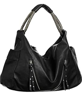03650fc81dba Amazon.com  Vitalio Vera Sasha Smokey Brown Large Hobo Handbags  Shoes