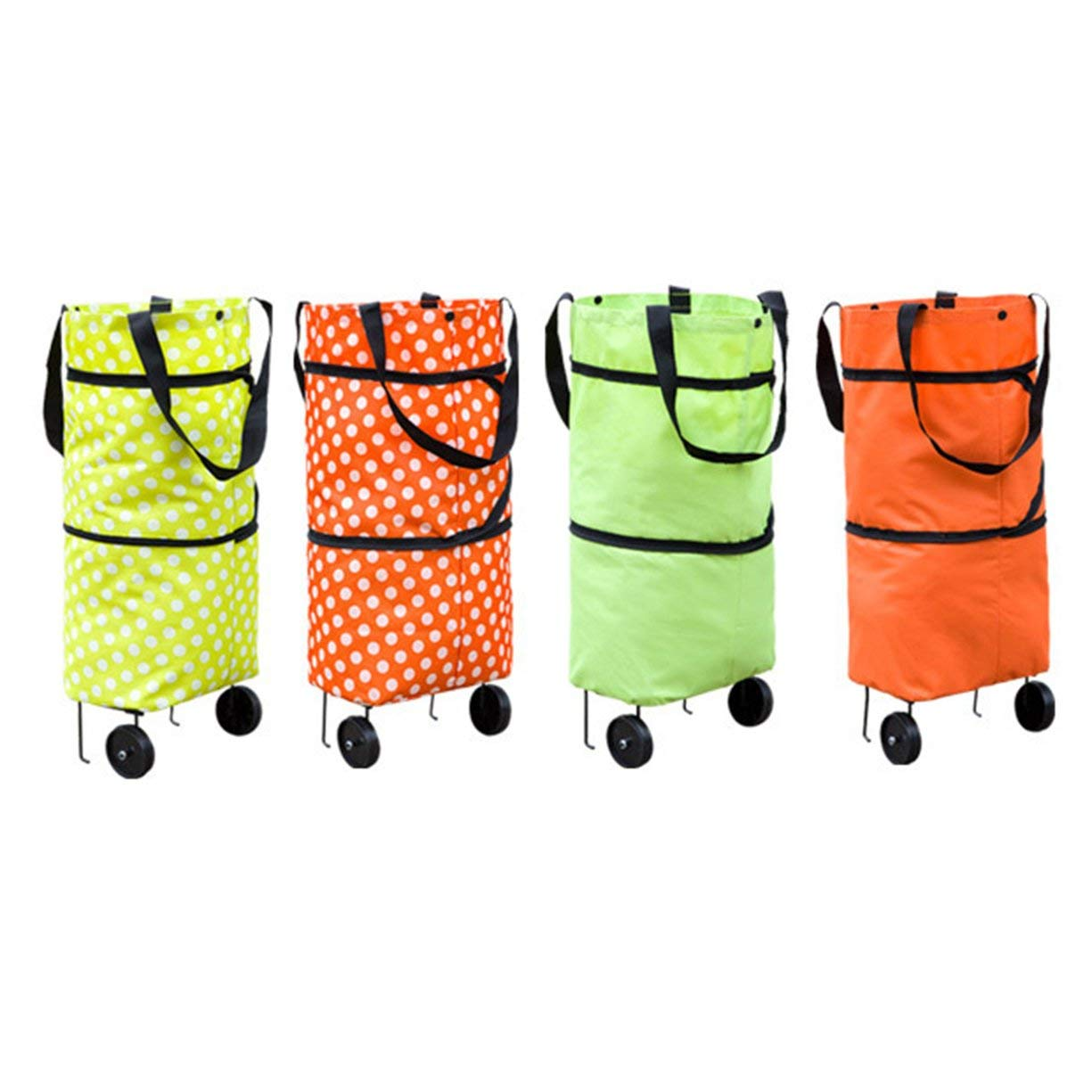 Shopping Trolley Wheel Bag,Fashionable Design Large Capacity Waterproof Oxford Cloth Foldable Shopping Trolley Wheel Bag Traval Cart Luggage Bag by Detectoy (Image #6)