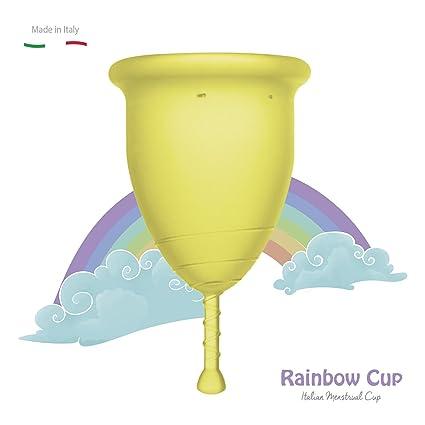 RAINBOWCUP La Nueva y Hermosa Copa menstrual MADE IN ITALY en silicona médica, elija el