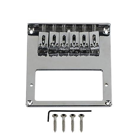 FLEOR ajustable 6 selletas para guitarra puente hardware w/abertura para pastilla humbucker para guitarra