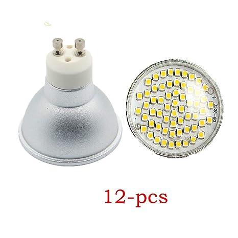 wulun – Juego de 12 GU10 3 W LED blanco cálido 3000 K, equivalente a