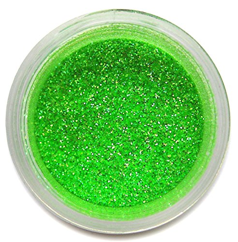 Heat Green Glitter Dust, 5 gram container