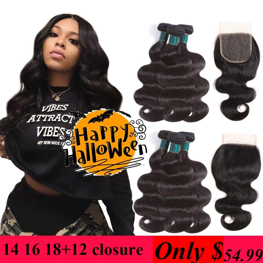 Generous Color 27 Bundles With Closure Honey Blonde Bundles With Closure Brazilian Hair Weave Straight Human Hair 3 Cheap Bundles 3/4 Bundles With Closure