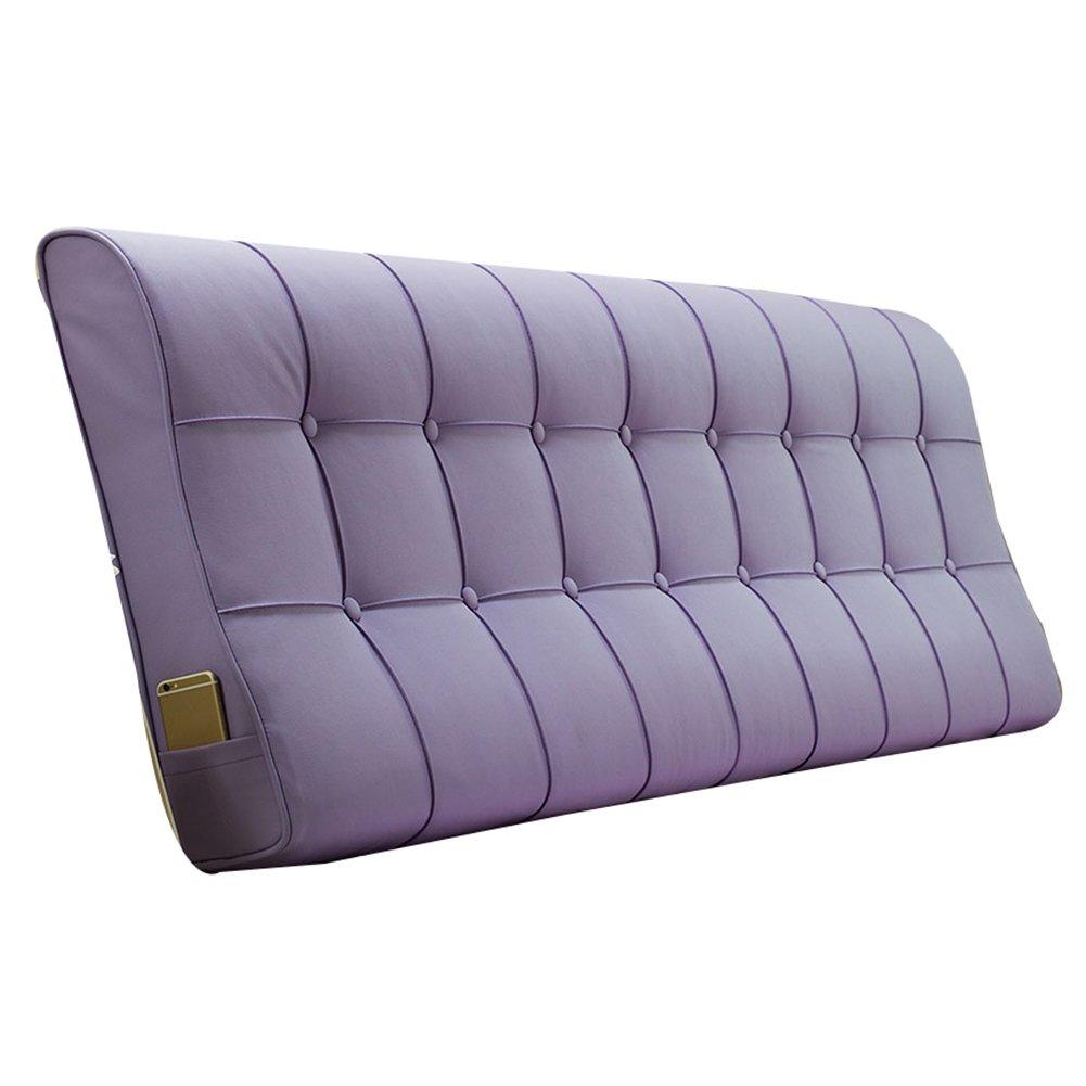 GXY Kopfteil Kissen Continental Soft Kissen Big Back Bettdecke (mit oder ohne Kopfteil) Kissen (Farbe : Purple, größe : 150x12x60cm)