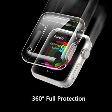 Funda Apple Watch 1 (38mm), Feskin carcasa suave TPU iPhone Watch con caratteristica dei Protector de pantalla para iWatch Serie 1