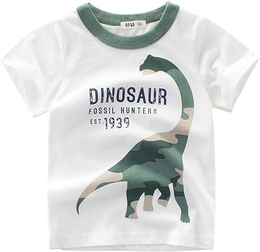 decdeal – Camiseta para niño (algodón, alto de cuello redondo de ...