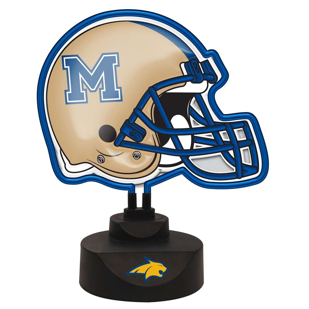 NCAA Montana State University Official Neon Helmet Lamp, Multicolor, One Size