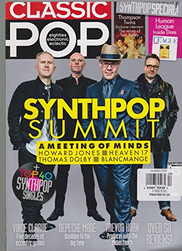 CLASSIC POP BRITISH MAGAZINE SYNTHPOP SUMMIT MAY - Rate International Priority Mail Flat