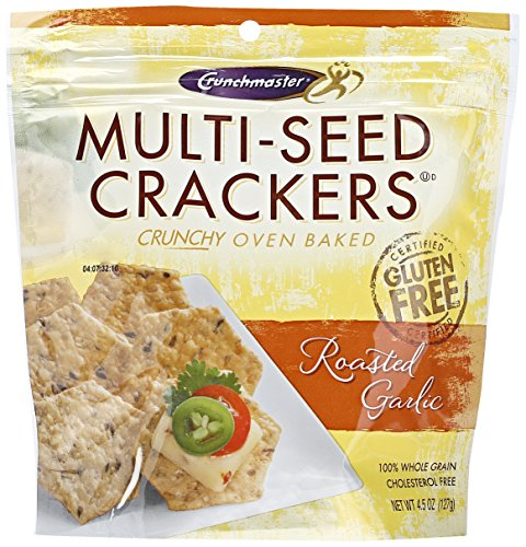 Crunchmaster Multi-Seed Crackers, Roasted Garlic, 4.5 (Crunch Master Multi Seed)
