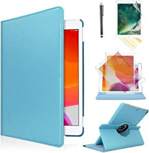 iPad Air 1st Generation case Compatible Models A1474 A1475A1476 MD785LL/A MD876LL/A 360 Rotating Stand with Wake Up/Sleep Function (Baby Blue)