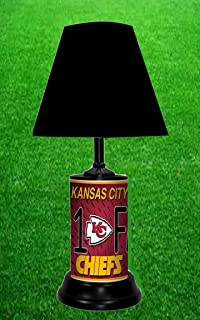 Amazon nfl kansas city chiefs table lamp with die cut lamp kansas city chiefs table lamp aloadofball Image collections
