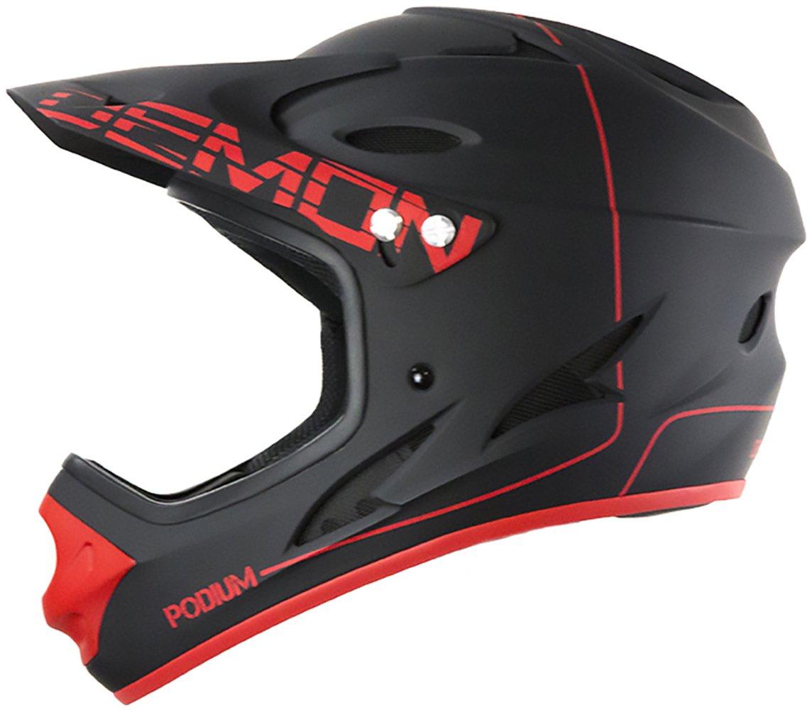 Demon United Podium Full Face Helmet Black/Red Sm