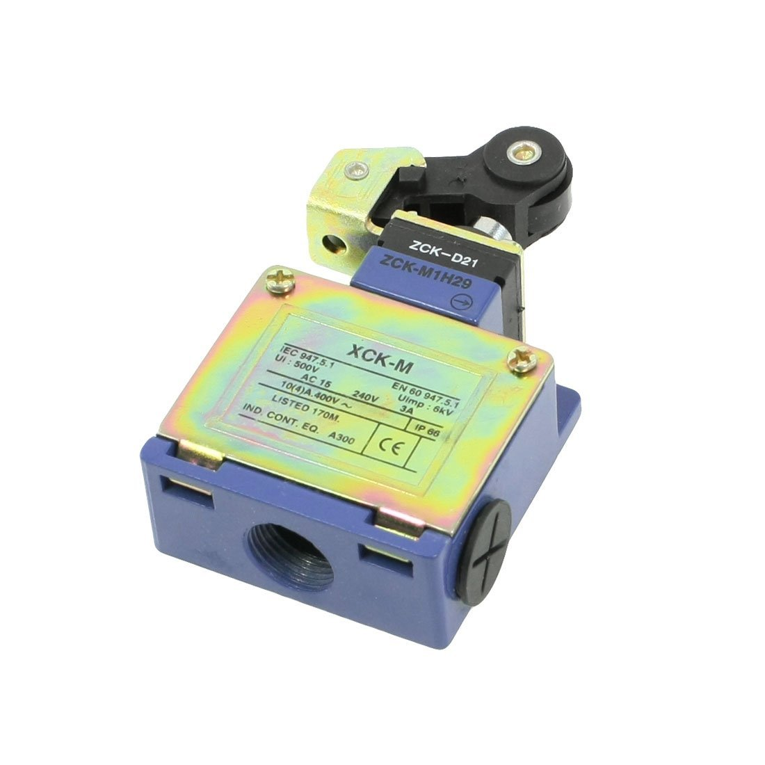 Uxcell XCK-M1H29 500V 6KW AC 240V 3 Amp Momentary Top Plunger Actuator Limited Switch