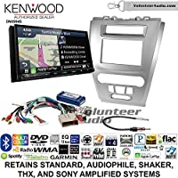 Volunteer Audio Kenwood Excelon DNX994S Double Din Radio Install Kit with GPS Navigation Apple CarPlay Android Auto Fits 2010-2012 Fusion (Silver)