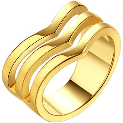 Gold three band thumb ring agree, rather