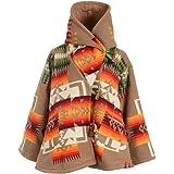 YHLZBNH Abrigo de lana cálido para mujer, estilo vintage, para otoño e invierno, elegante, con capucha