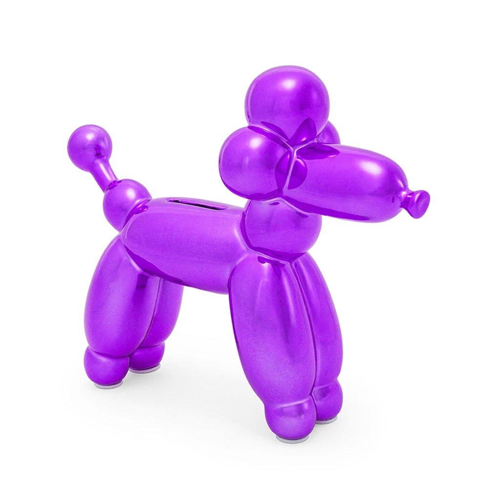 Spardose, Halter, Ballon, französischer französischer französischer Pudel mit Tieren, Sparschwein aus Keramik, Baby, Kinder, Erwachsene, blau 37e723