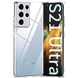 MEMUMI Funda para Samsung Galaxy S21 Ultra Transparente Super Claro Protector Carcasa Case para Galaxy S21 Ultra Delgada Resi
