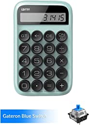 Calculator,Vintage Retro Calculator LOFREE Digit Mechanical Calculator Standard Function Electronics Desktop Calculator Portable Desk Calculator with Large Display (Blue)