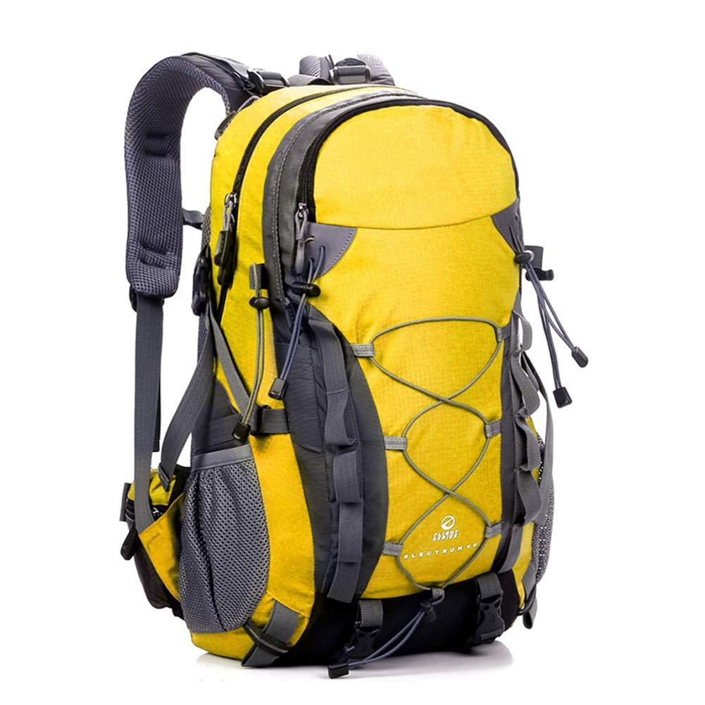 jaune  MEMIND Sacs à Dos en Plein air Multifonction Haute Capacité MouveHommest Nylon Paquet Voyage Homme Femme Sac à Dos Solide Noir étanche