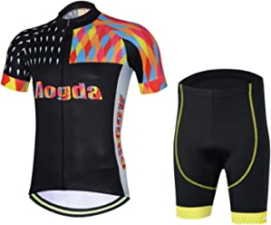 592c43f4a33 Aogde Men s Cycling Jersey Quick Dry Short Sleeve Bicycle Shirts Bib Shorts  Riding Clothing Jacket DC051