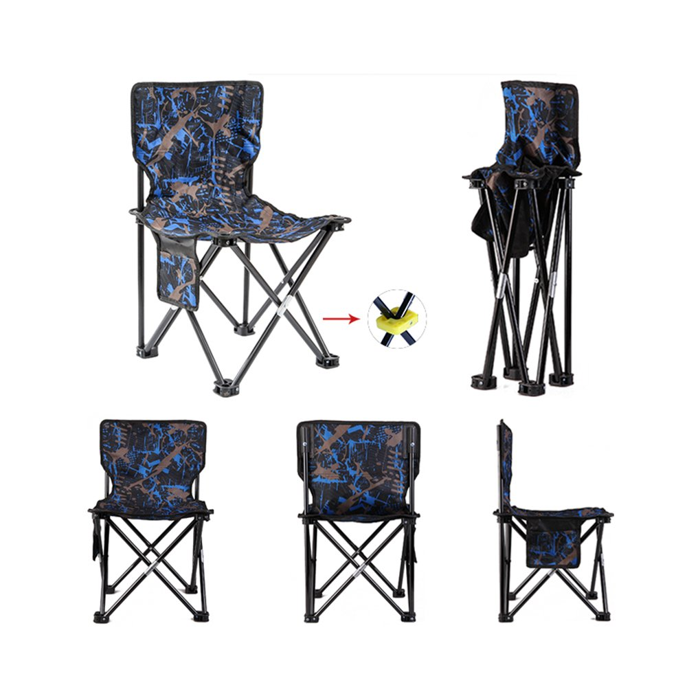 blueee Super Light Breathable Backrest Folding Chair Portable Beach Sunbath Picnic Barbecue Fishing Stool 35  38  46Cm,Yellow