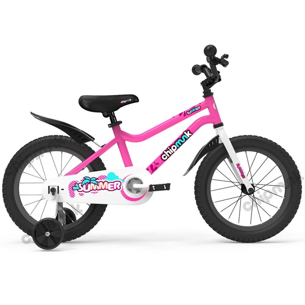rose 18in Axdwfd Vélos Enfants Vélos for garçons, vélos à Hauteur réglable, vélos 12 14 16 18 Pouces avec Roues de Formation et Doubles Freins à Main