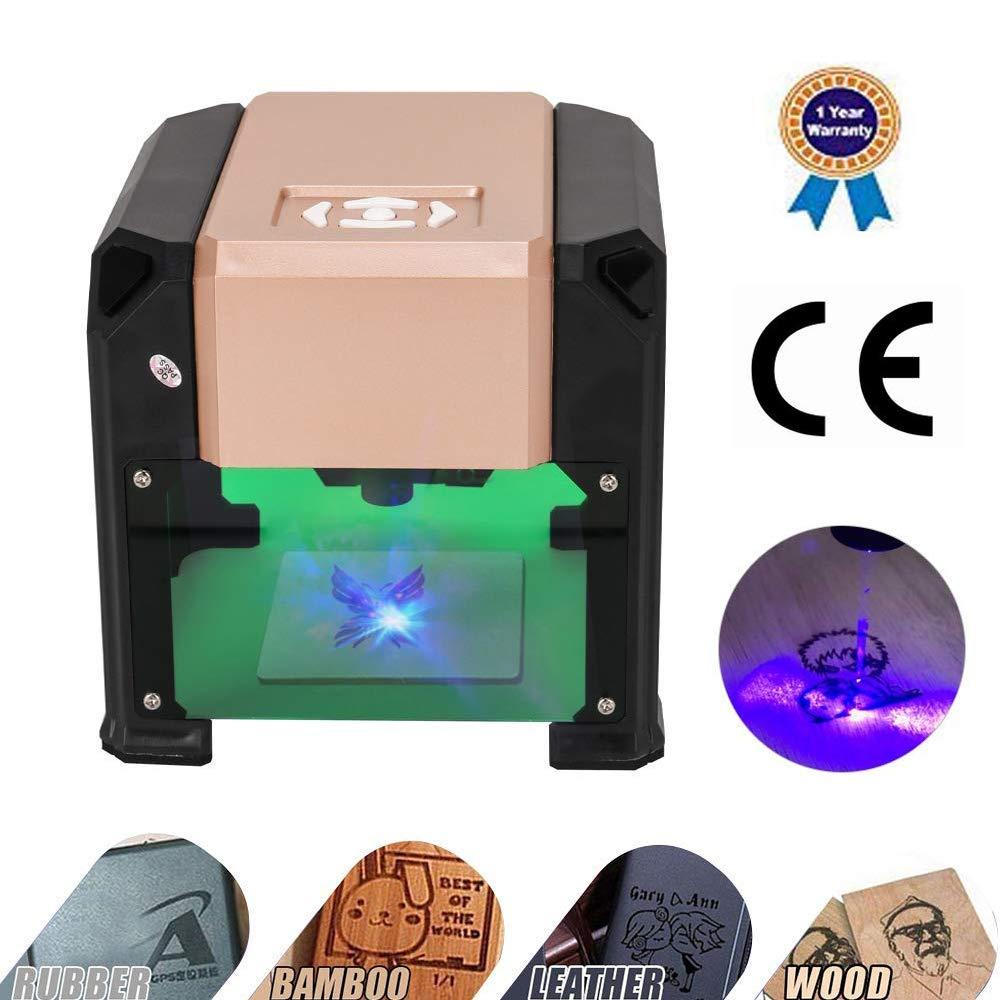 Laser Engraver, MYSWEETY 3000MW Mini DIY Laser Engraving Machine, Desktop  Laser Engraver Printer, CNC Laser Carving Machine for Wood, Plastic,  Bamboo,