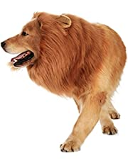 SEALEN Large Pet Dog Lion Wigs Mane,Dress up with Ears Adjustable Fancy Lion Hair Dog Costumes for Holiday Party (Dog Lion)