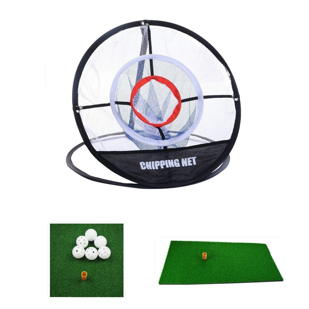 "Portable 20"" 4 in 1 Golf Training Set, With Driving Mat, Chipping Net And 6 Golf balls Hitting Aid Practice Indoor and Outdoor"