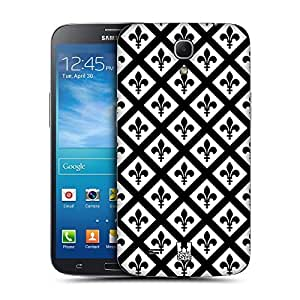 AIYAYA Samsung Case Designs Saint Black and White Pattern Replacement Battery Back Cover for Samsung Galaxy Mega 6.3 I9200 I9205